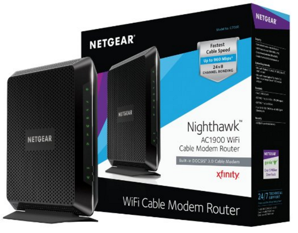 C7000 NETGEAR Nighthawk AC1900 Best Cable Modem Router